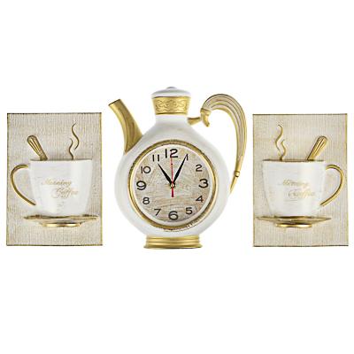 Часы настенные Чайник 26,5х24см+2 чашки 581-825