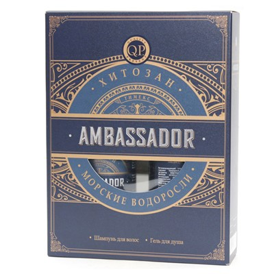 Набор муж. Ambassador №1120 (шамп. 250+гель) морские водоросли