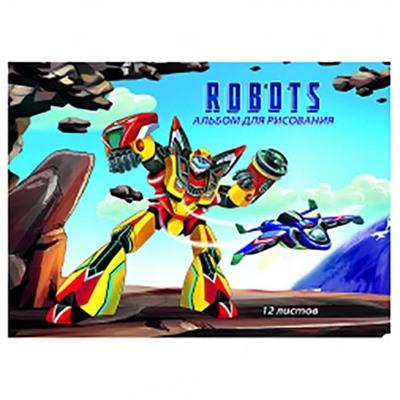 Альбом 12л А4 Проф-Пресс 80г/м на скобе Робот 12-5333