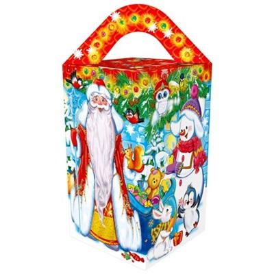 Коробка НГ из картона Дедушка Мороз ПДУ 10447