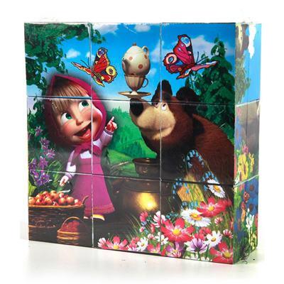 Набор из 9-ти кубиков Играем вместе Маша и медведь 01320