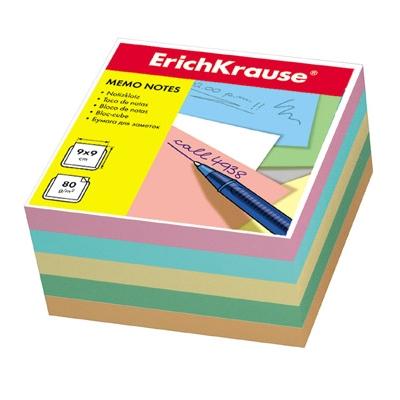 Блок бумаги Erich Krause 9*9*5см 4цв 80г/м2 5139