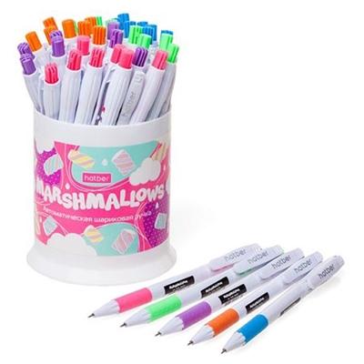 Ручка автомат синяя Hatber Marshmallows 0,5мм 291634/5CB_40232