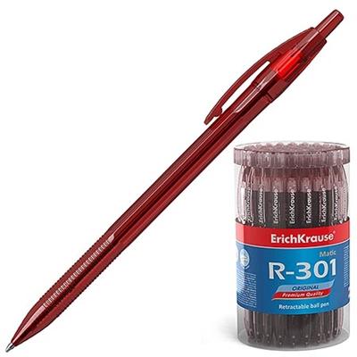 Ручка автомат красная Erich Krause 0,7мм R-301 46766
