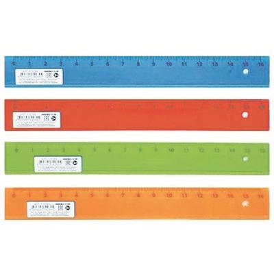 Линейка пластик 16см Проф прозр цветная Л-9284