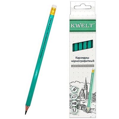 Карандаш простой KWELT с ластиком HB КР-000141/К-00217