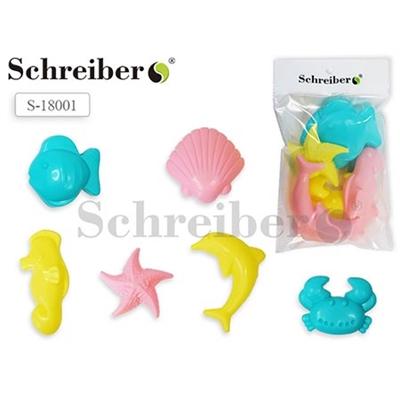 Песочный набор Schreiber Морские фигурки 6шт S 18001