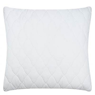 Чехол на подушку 70*70 м/ф стеганый белый на молнии