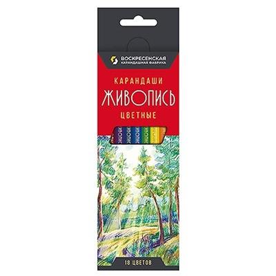 Карандаши цветные 18цв ВКФ Живопись JIV-CP-1018