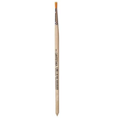 Кисточка для рисования Артекс-М №2 синтетика плоская