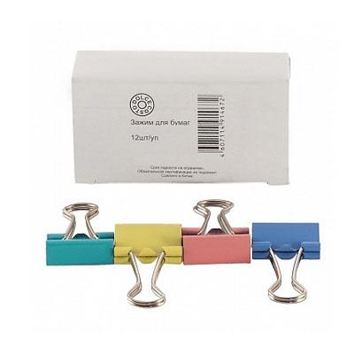 Зажимы Dolce Costo цветные 25мм 12шт/уп D00124