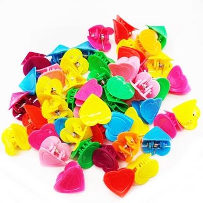 Заколки-крабики CH-2410 сердце 2см цена за 50шт/уп