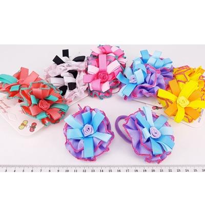 Набор резинок 2шт RA-1095 цветок цена за набор