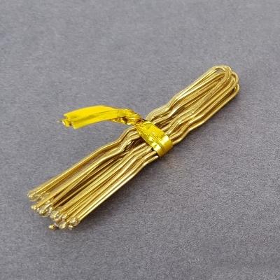 Шпильки для волос 5см золотистые цена за 10шт