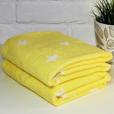 Полотенце STARS 70*130 430гр 024 желтое 6137872