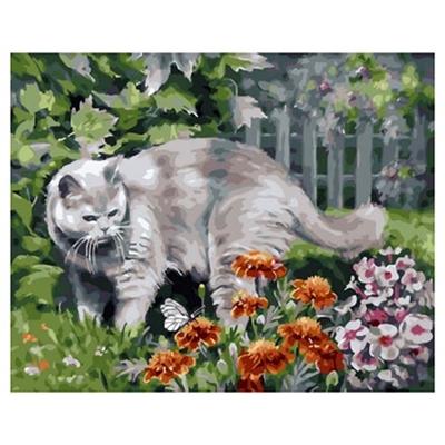 Живопись по номерам Color Kit 40*50см Любопытный кот GX33959