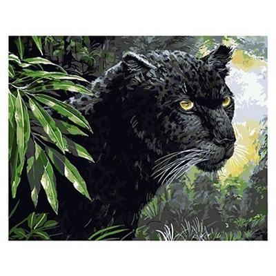 Живопись по номерам Color Kit 30*40см Черная пантера KS021