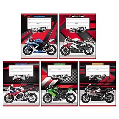 Тетрадь 12л косая лин Проф-Пресс Мотоциклы 12-3699