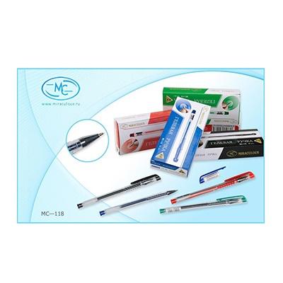 Ручка гелевая черная Basir 0,5мм МС-118 по 12шт