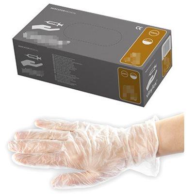 Перчатки виниловые (100шт/уп) L, цена за упаковку