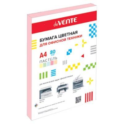 Бумага А4 deVente пастель 80г/м 50л розовая 2072909