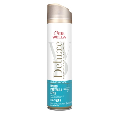 Лак для волос Велла Делюкс HYDRO PROTECT & STYLING 250мл