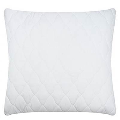 Чехол на подушку 60*60см м/ф стеганый белый на молнии
