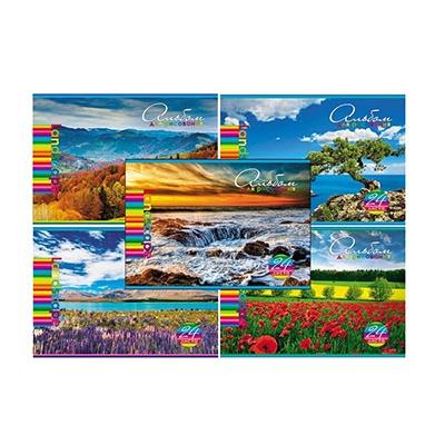 Альбом 24л А4 Hatber 120г/м Яркие краски природы 178799