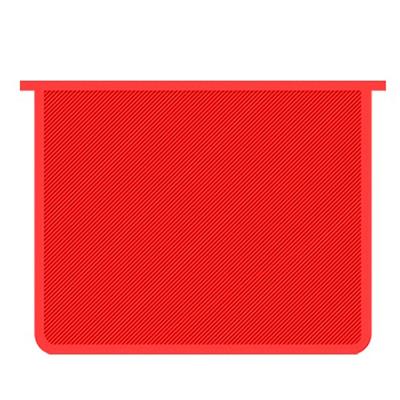 Папка А5 на молнии Пчелка красная пластик ПМ-А5-00
