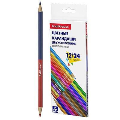 Карандаши цветные 24цв (12шт) Erich Krause Bicolor 50531