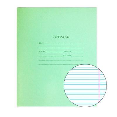 Тетрадь 12л узкая лин Проф-Пресс Стандарт Зеленая 12-3245