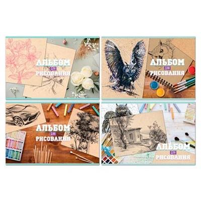 Альбом 32л А4 БиДжи 100г/м Рисунки на крафте 8758