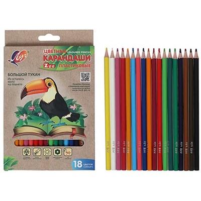 Карандаши цветные 18цв Луч Zoo пластиковые 29С1741-08