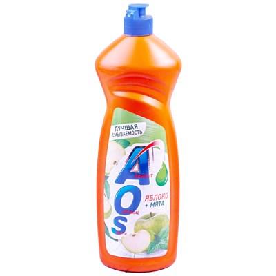 Жидкость для посуды AOS 900мл (АОС) Яблоко и Мята