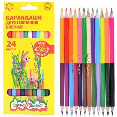 Карандаши цветные 12шт (24цв) Каляка двухстор КДКМ24