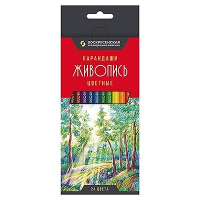 Карандаши цветные 24цв ВКФ Живопись JIV-CP-1024