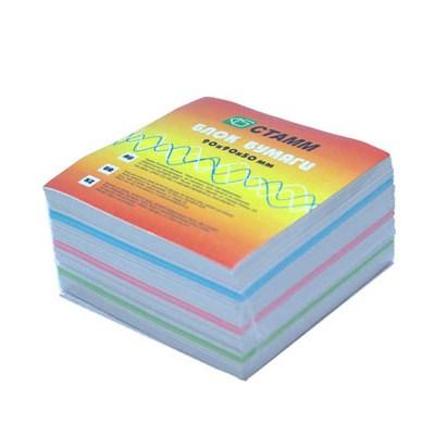 Блок бумаги Стамм 9*9*5см 4цв Эконом 65г/м2 БЗ 55