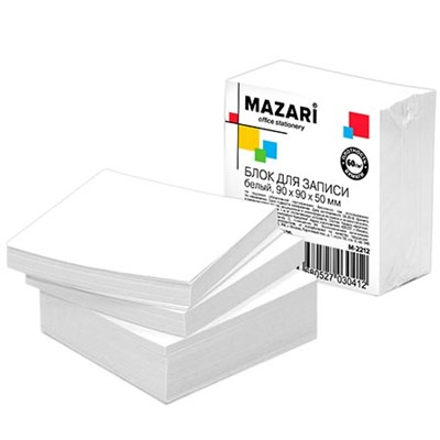 Блок бумаги Mazari 9*9*5см белый 60г/м2 M-2212