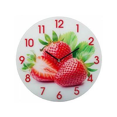 Часы настенные кругл. 34см Клубника DT-0076
