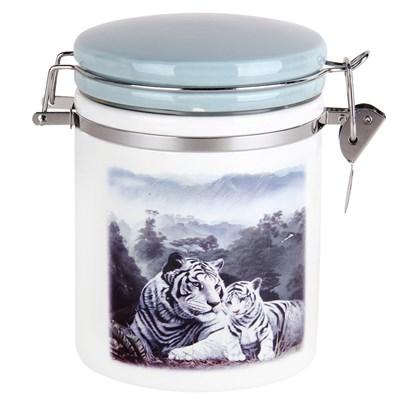 Банка для сыпучих продуктов 700мл Белые тигры 188164