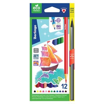 Карандаши цветные 12цв Berlingo Корабли пластик СР_02912