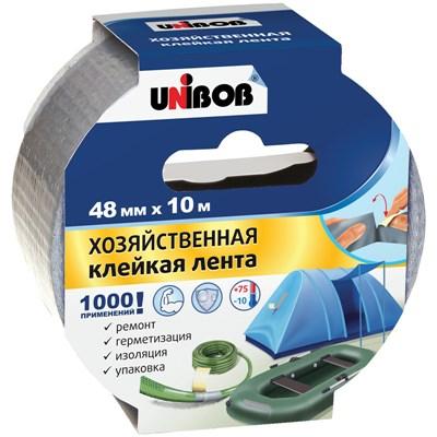 Клейкая лента хозяйственная Unibob 48мм*10м серая 44264