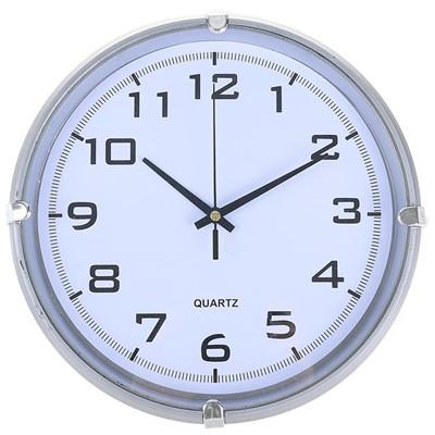 Часы настенные Модерн серебро 24.5 см 2334897