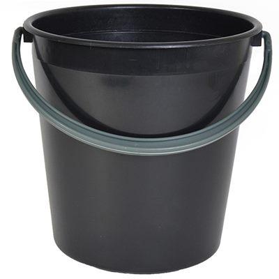 Ведро пластм черное 10л