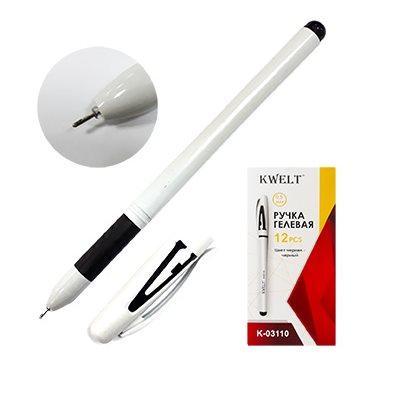 Ручка гелевая черная KWELT 0,5мм К-03110