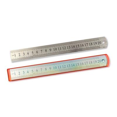 Линейка металлическая 20см с двойной шкалой Kwelt К-7814