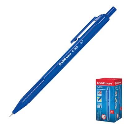 Ручка автомат синяя Erich Krause 0,7мм 50шт/уп R-305, 39055