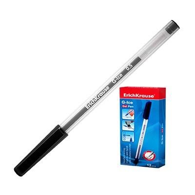 Ручка гелевая черная Erich Krause G-ICE 0,5мм 39004 по 12шт