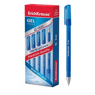 Ручка гелевая синяя Erich Krause G-ICE 0,5мм 39003 по 12шт