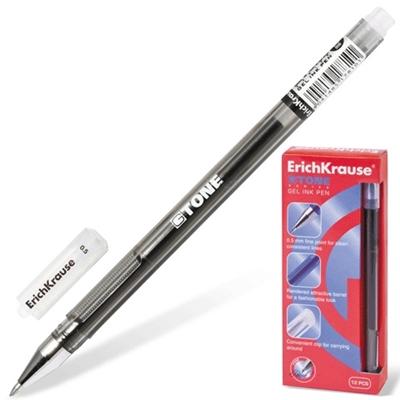 Ручка гелевая черная Erich Krause G-Tone 0,5мм 17810 по 12шт